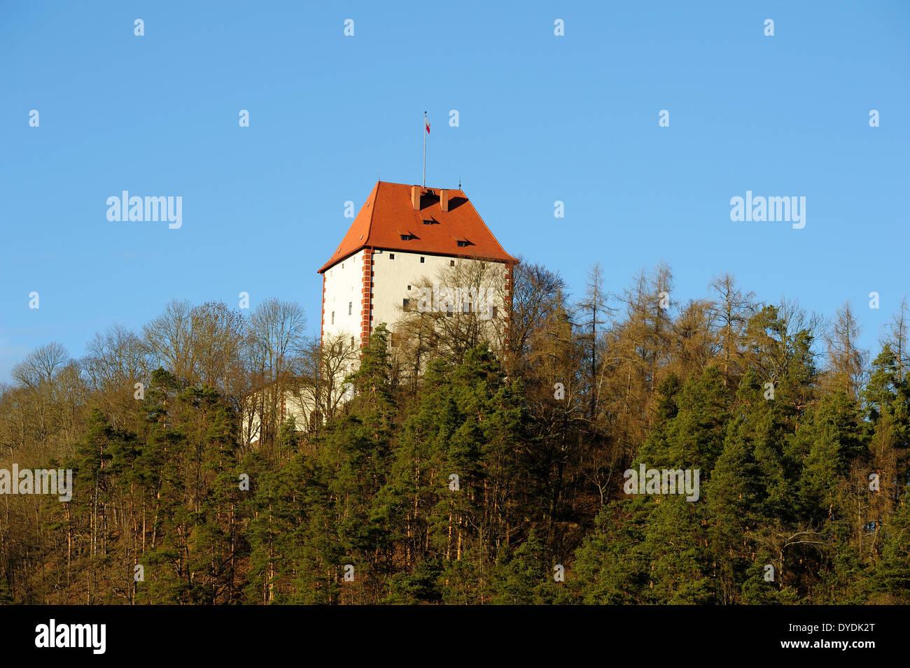 Ziegenrück, castle, Thuringia, Germany, Europe, - Stock Image