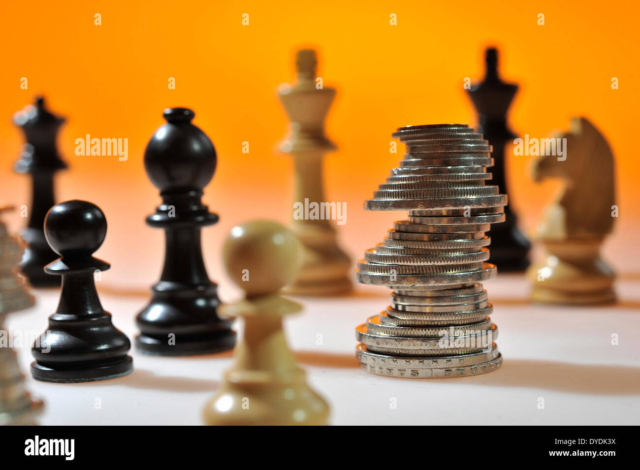 Chess Check Chess Pieces Play Game Strategy Money Coins
