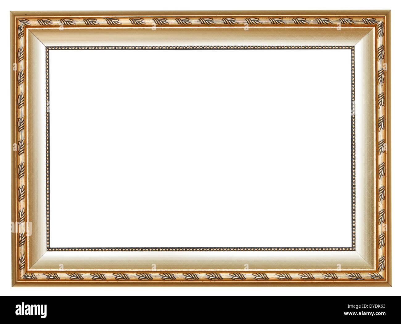 ancient silver classic wide wooden picture frame with cut out canvas ...