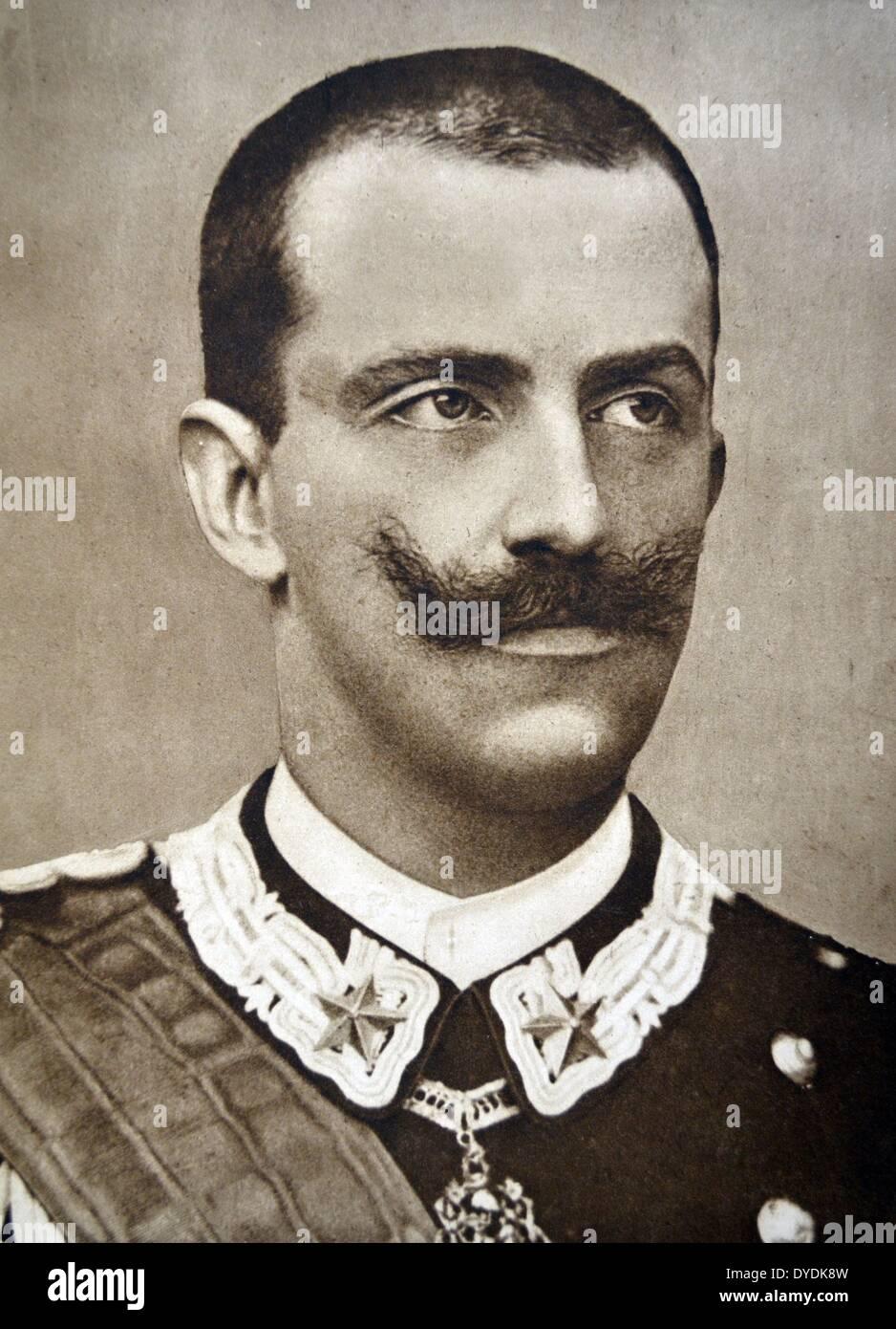 Victor Emmanuel III (1869 – 1947)KingofItaly(29 July 1900 – 9 May 1946). - Stock Image