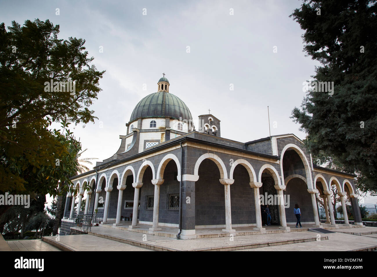 Fransiscan Monastery at the Mount of the Beatitudes, Tabgha, Sea of Galilee, Israel. Stock Photo
