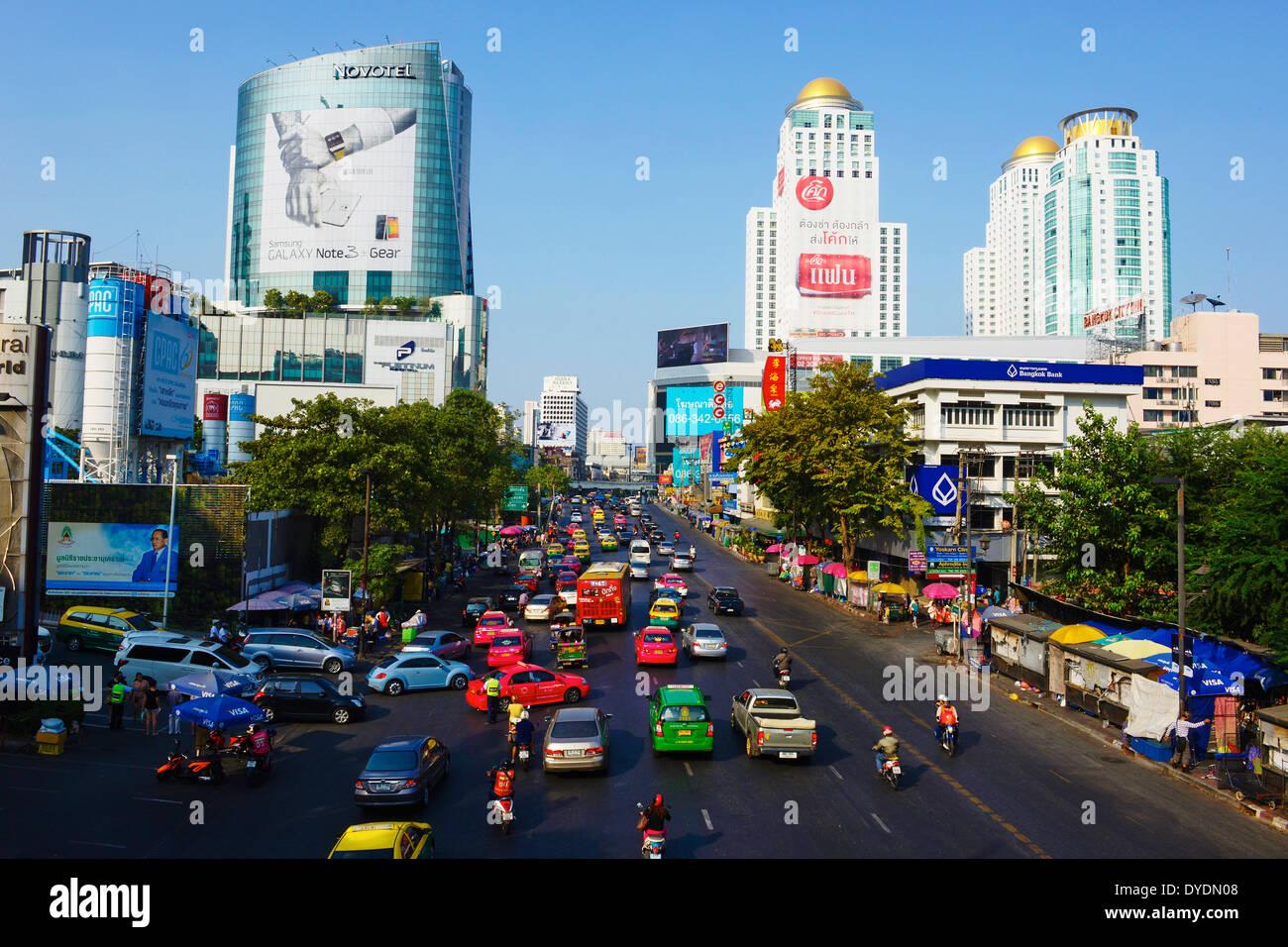 Thailand, Bangkok, Siam Square area, Rajprarop road - Stock Image