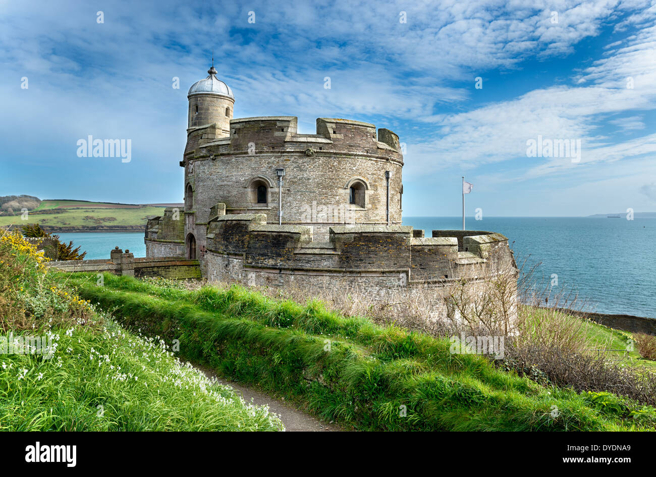 The castle at St Mawes - Stock Image