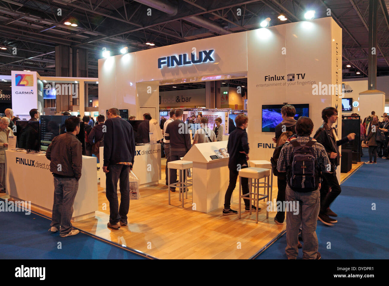 The FINLUX display at the Gadget Show Live 2014 show at the NEC, near Birmingham, UK. - Stock Image