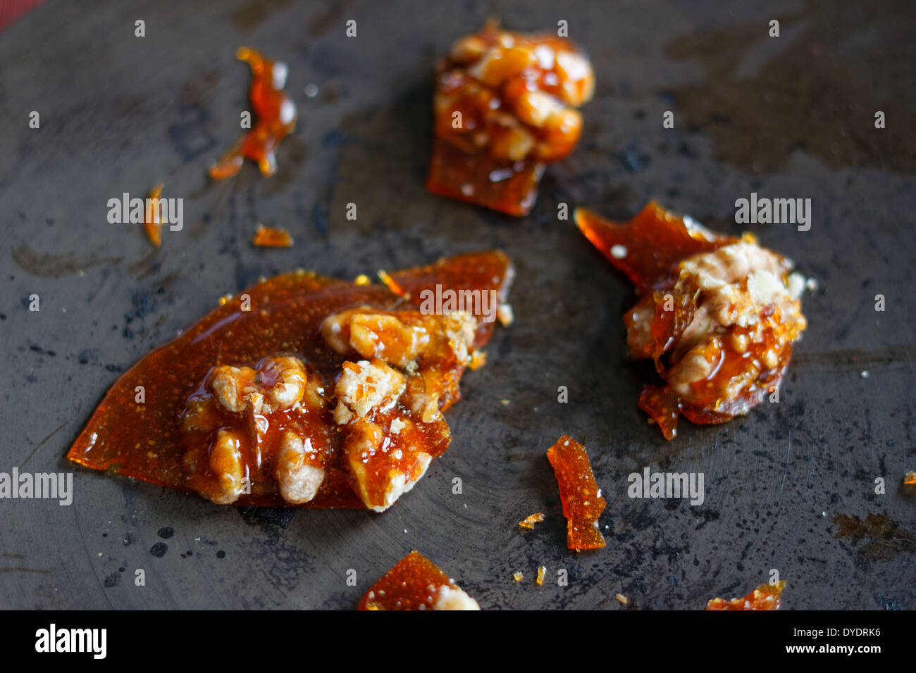 Nut brittle or nut caramel - Stock Image