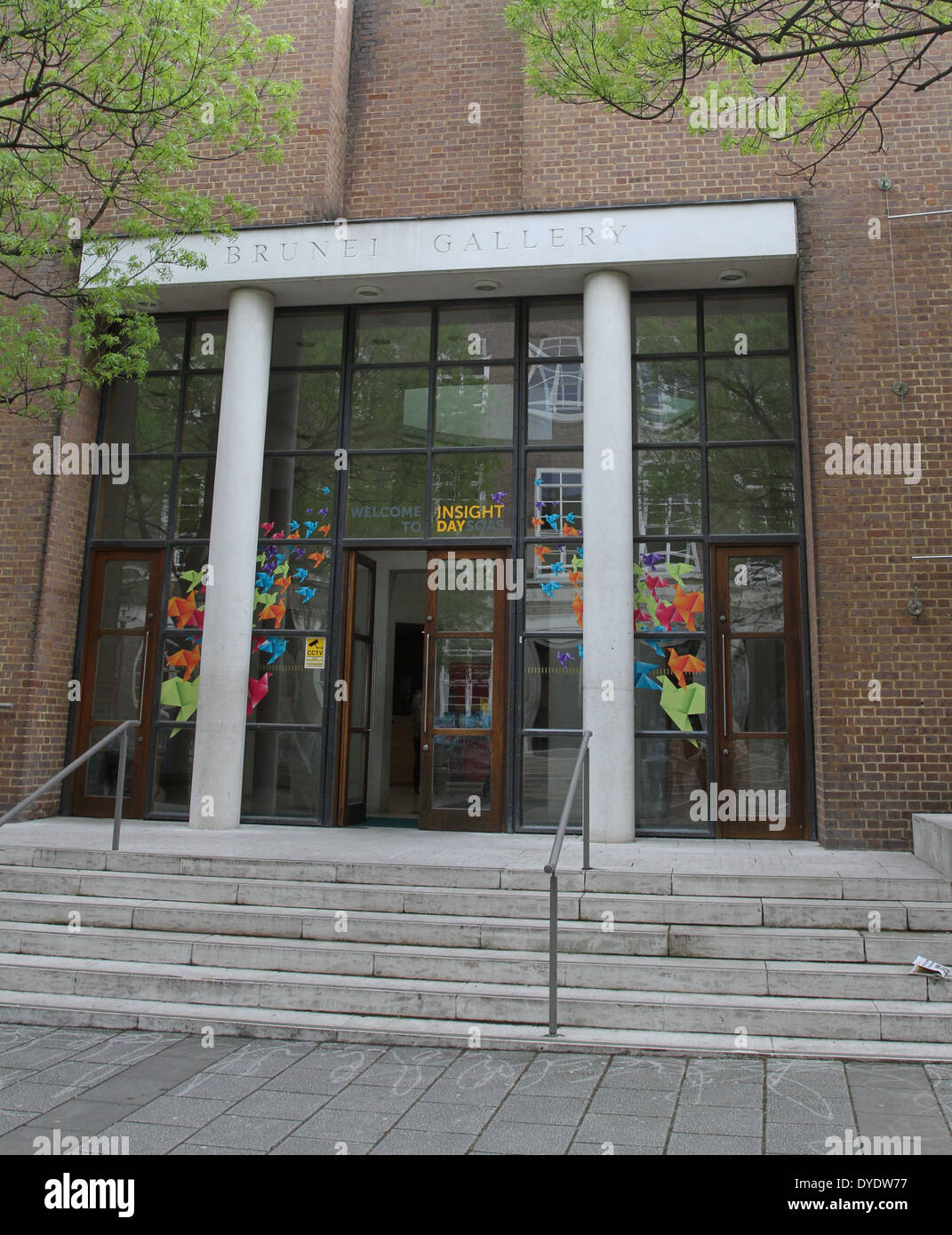 Exterior of Brunei Gallery London UK  April 2014 - Stock Image