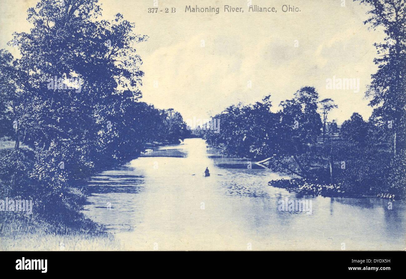 Mahoning River, Alliance, Ohio - Stock Image