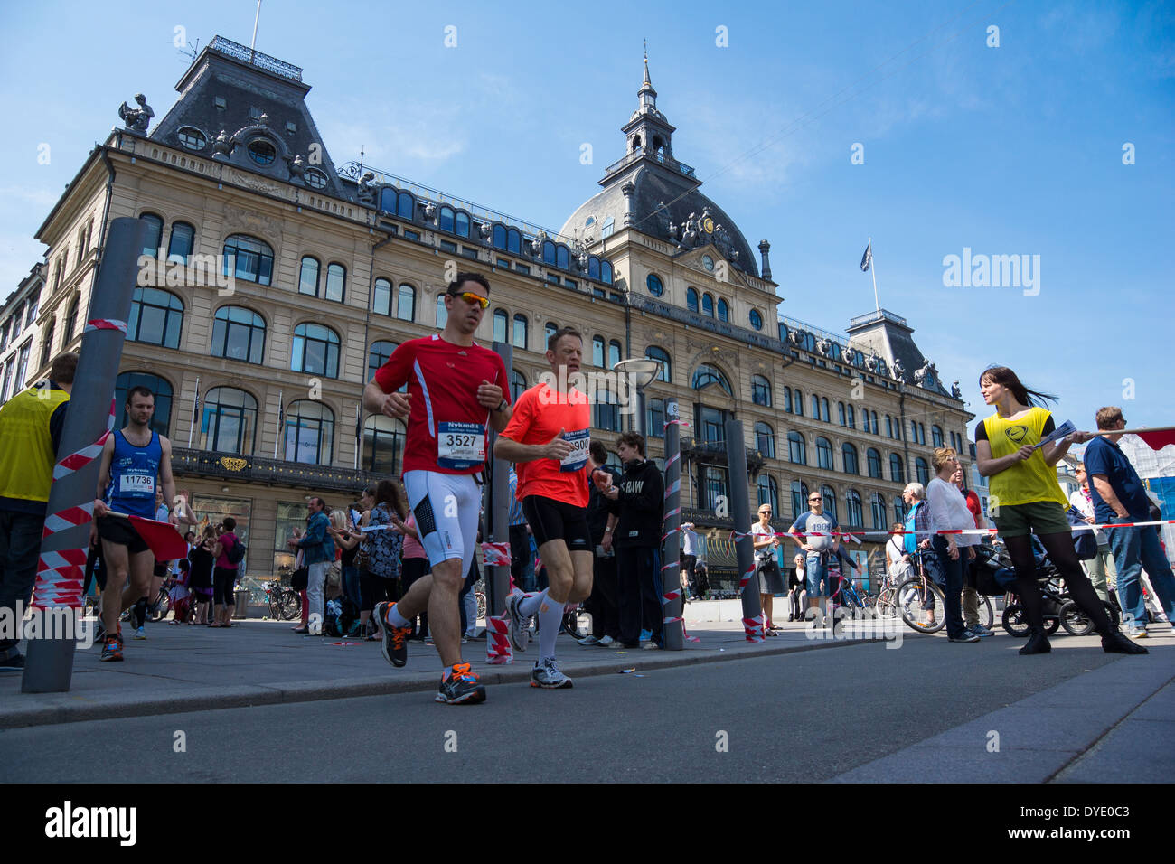 Copenhagen marathon has become a wellknown race with participants from all over the world. - Stock Image