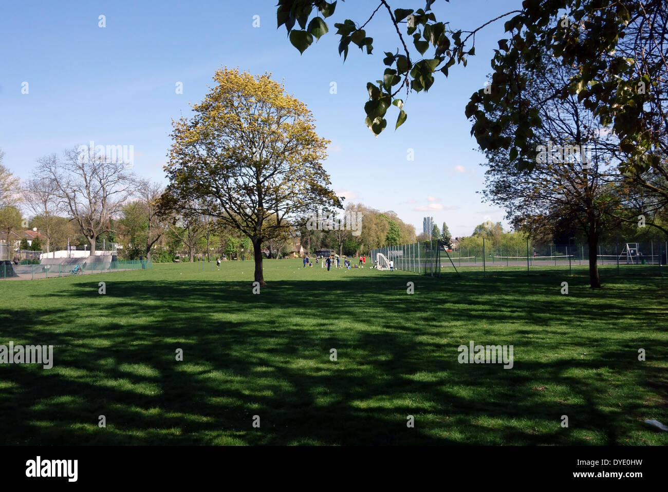 Ladywell Fields open space, South London - Stock Image