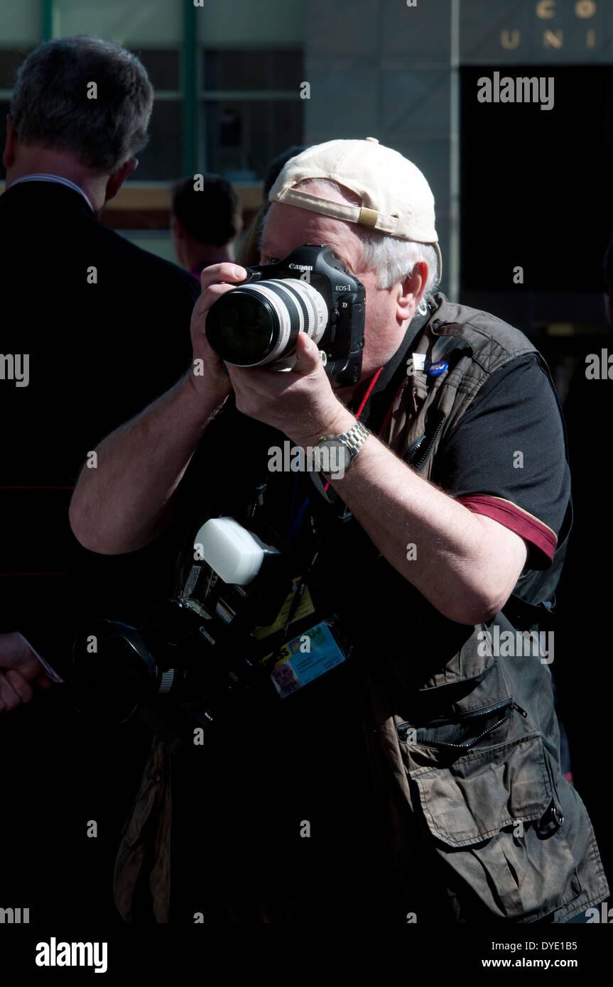 Press photographer - Stock Image