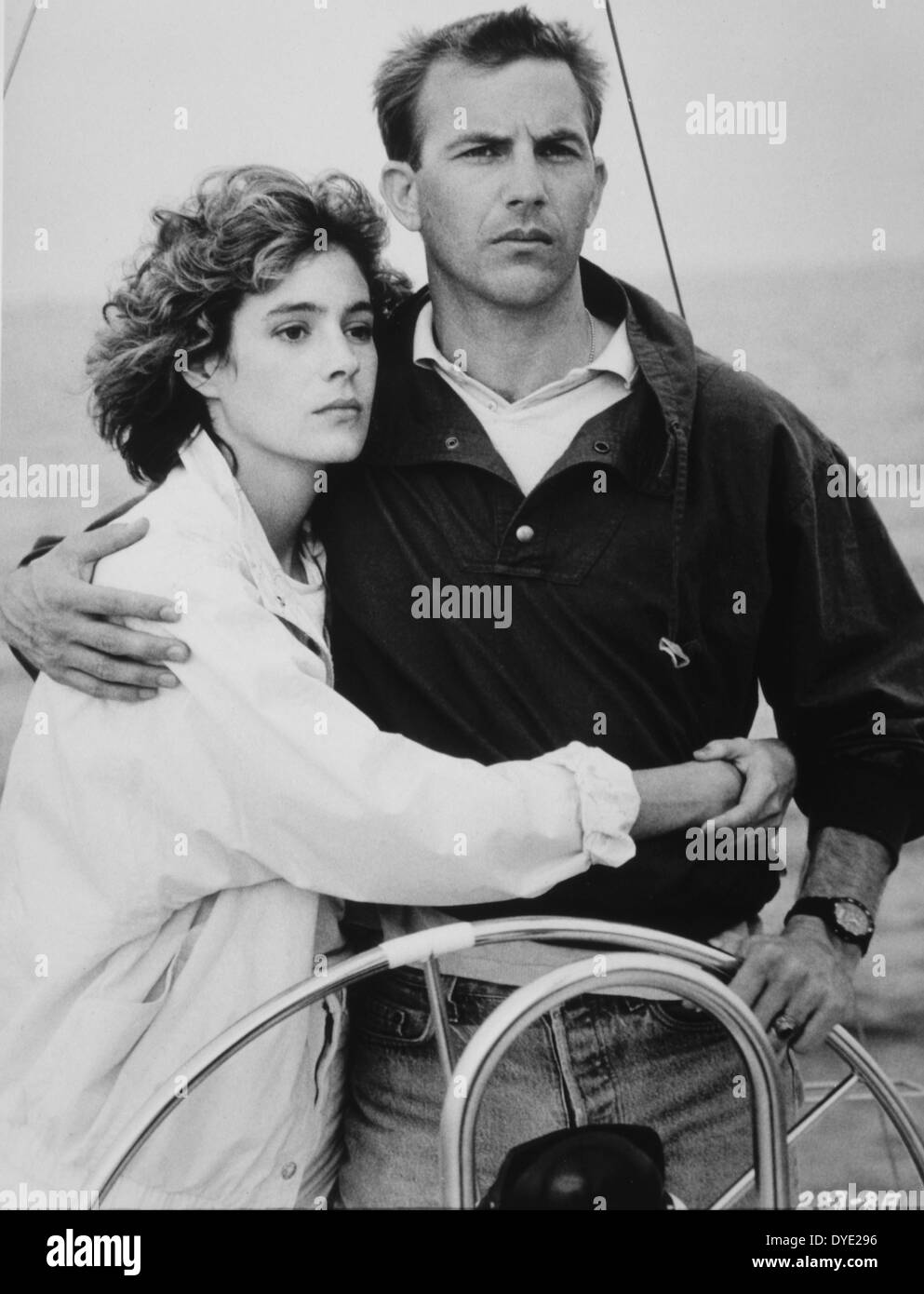 sean young and kevin costner on set of the film no way. Black Bedroom Furniture Sets. Home Design Ideas