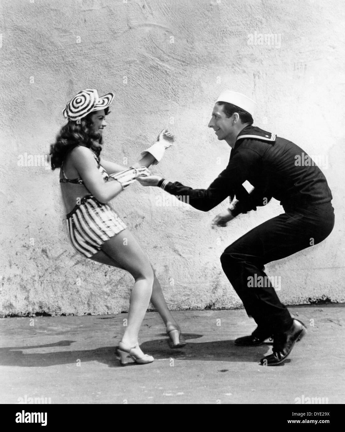 Dona Drake, Gil Lamb, on-set of the Film, 'Star Spangled Rhythm',  1942 - Stock Image