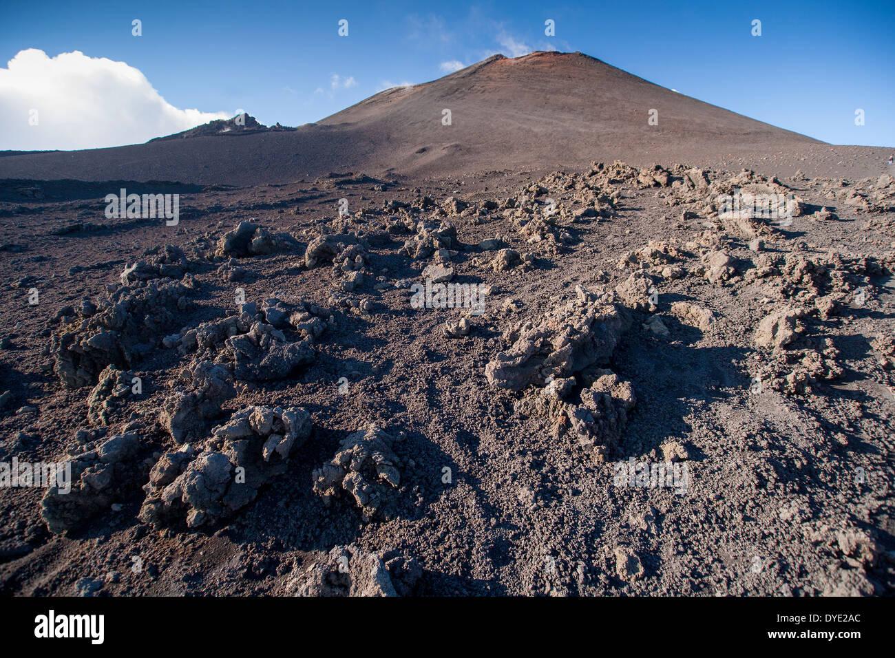Slopes of Mount Etna Sicily. - Stock Image