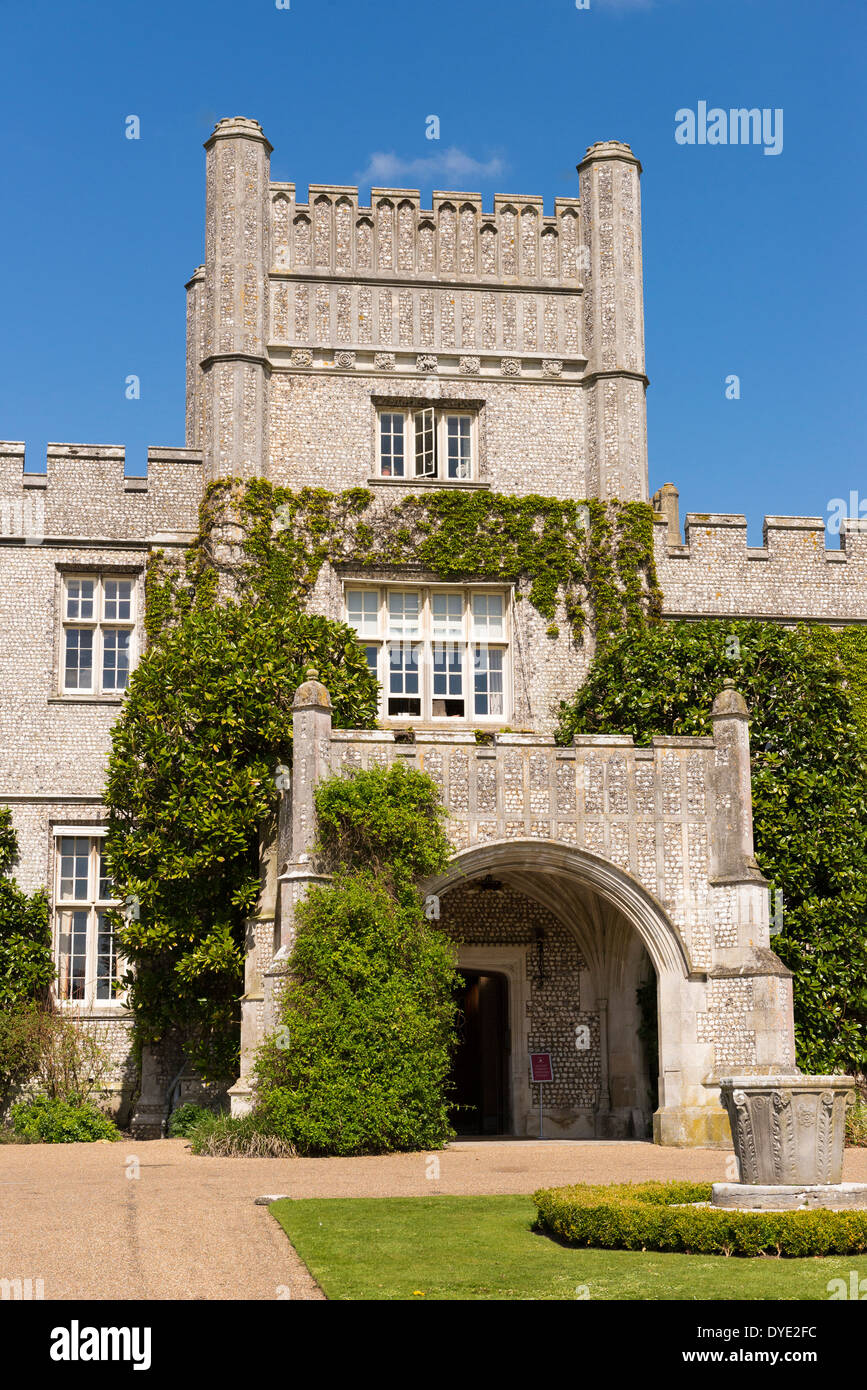 Entrance way into the west dean college situated in the west dean estate in west sussex - Stock Image