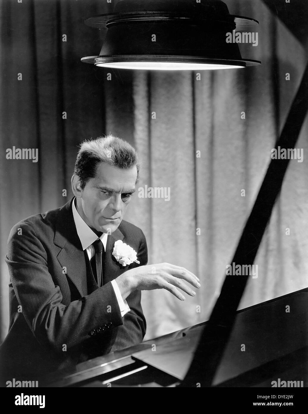 Boris Karloff, on-set of the Film, 'The Walking Dead', 1936 - Stock Image