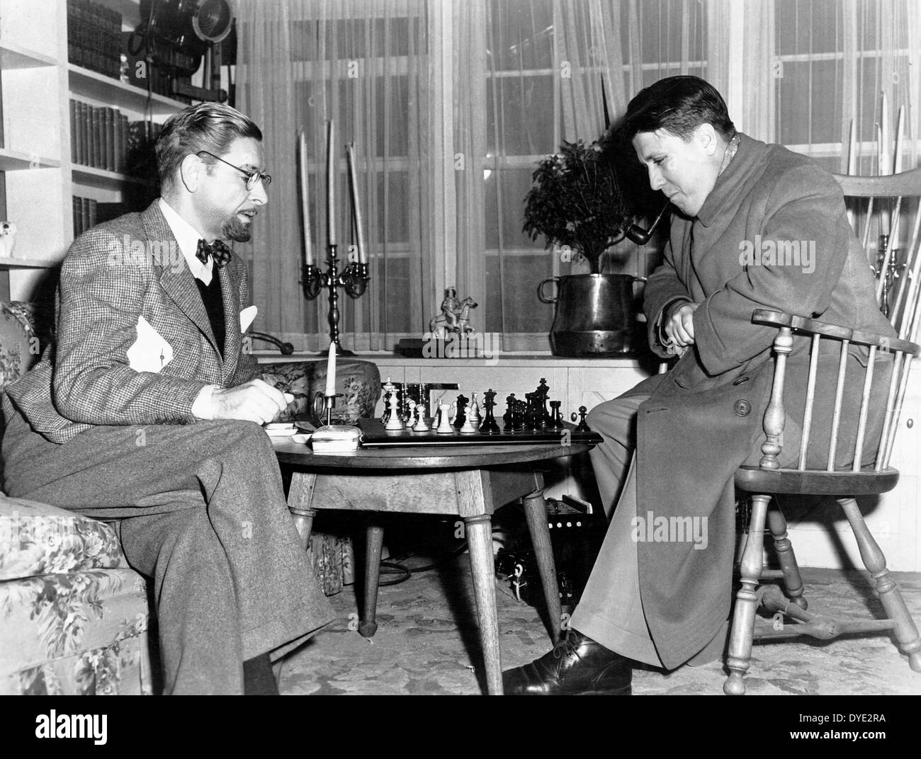Ronald Colman & Director George Stevens on-set of the Film, 'The Talk of the Town', 1942 - Stock Image