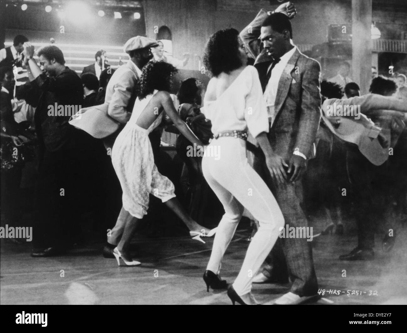 Annette O'Toole and Eddie Murphy, on-set of the Film, '48 Hrs.', 1982 - Stock Image