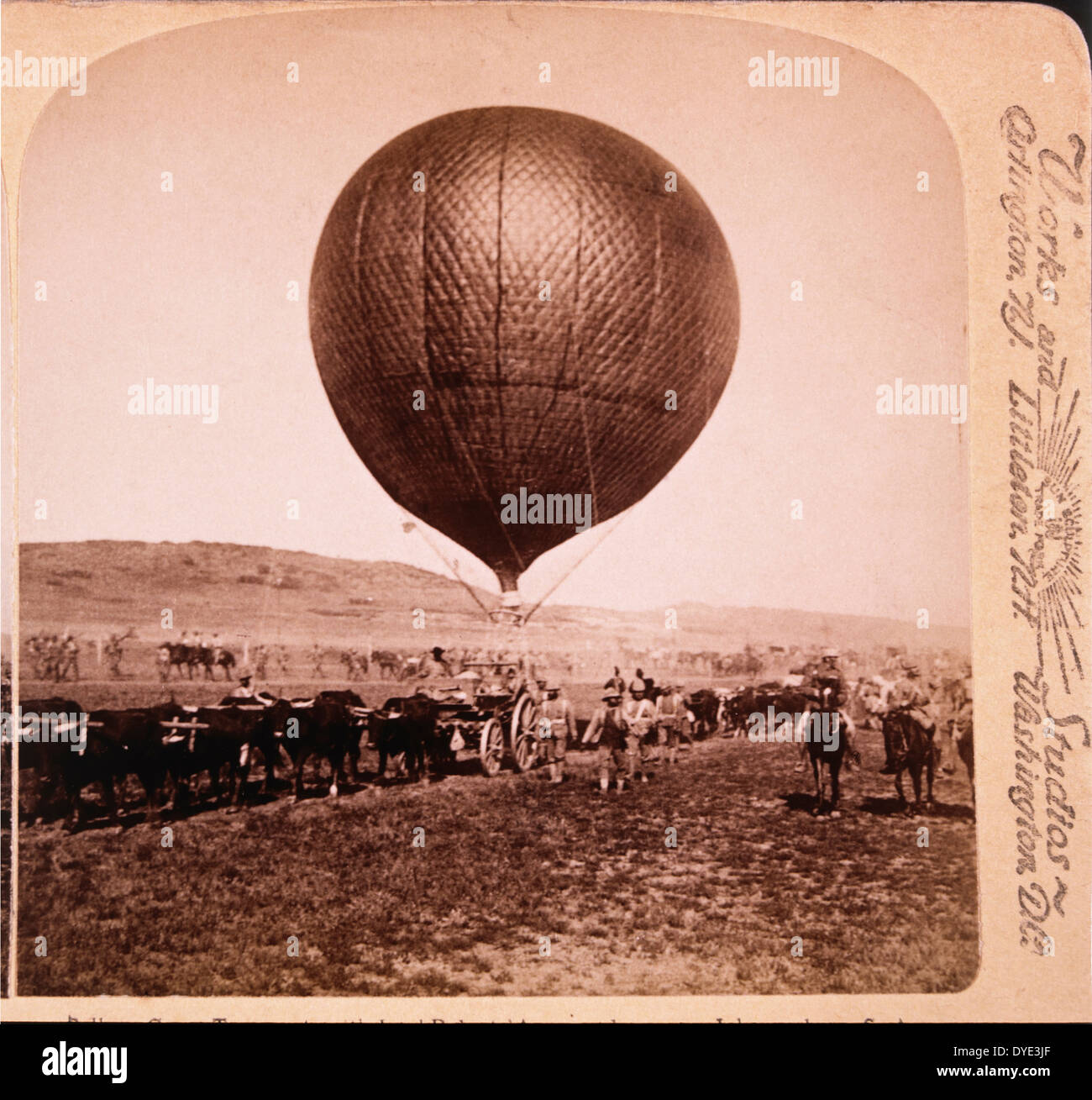 Balloon Corps Transport with Lord Roberts' Army Advancing on Johannesburg, South Africa, Second Boer War, 1901 - Stock Image