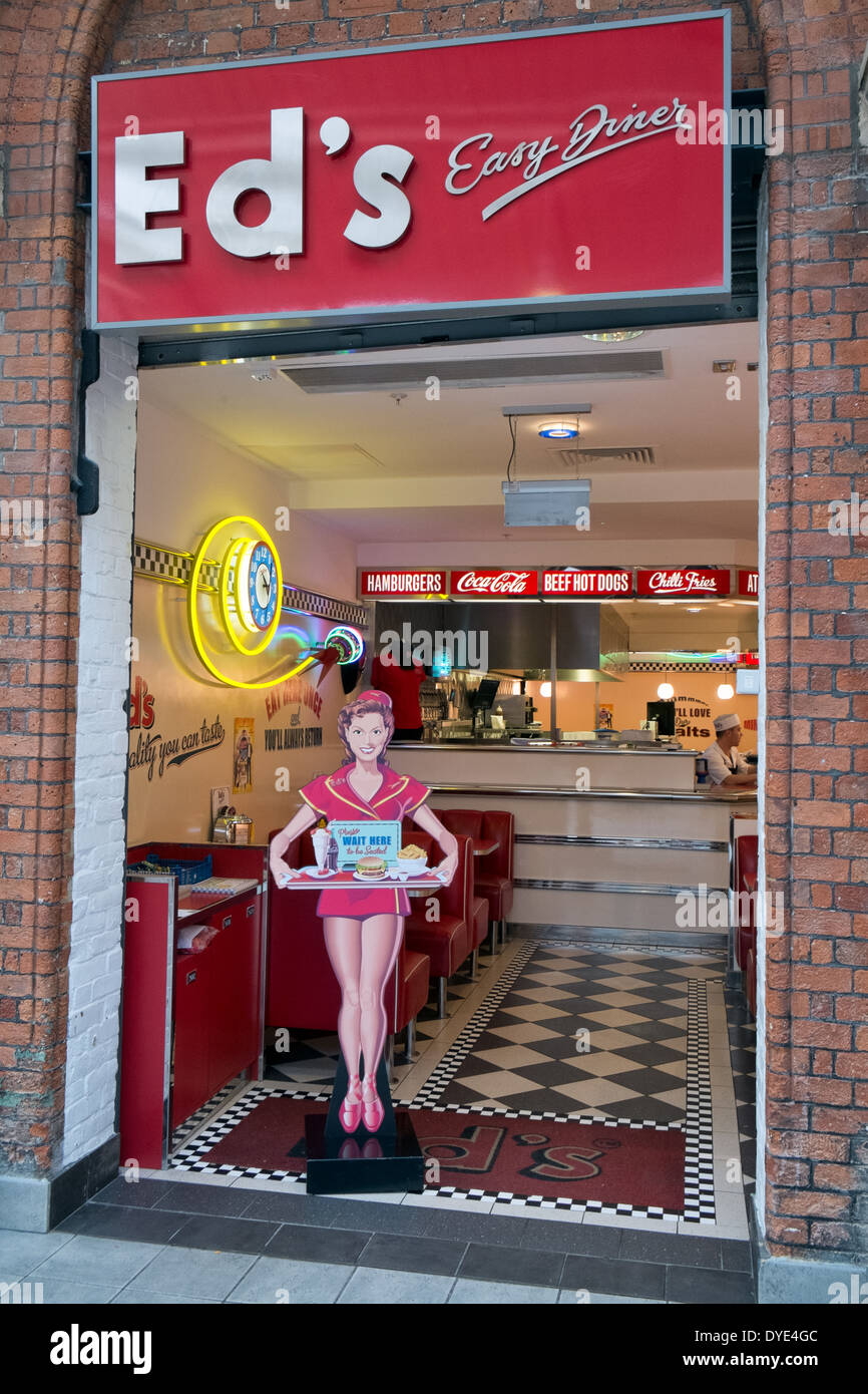 The Entrance To An Ed S Easy Diner Retro Themed Burger Restaurant Stock Photo Alamy