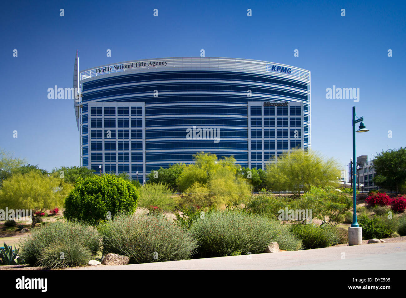 Fidelity National Title Building, Tempe, Arizona, USA - Stock Image