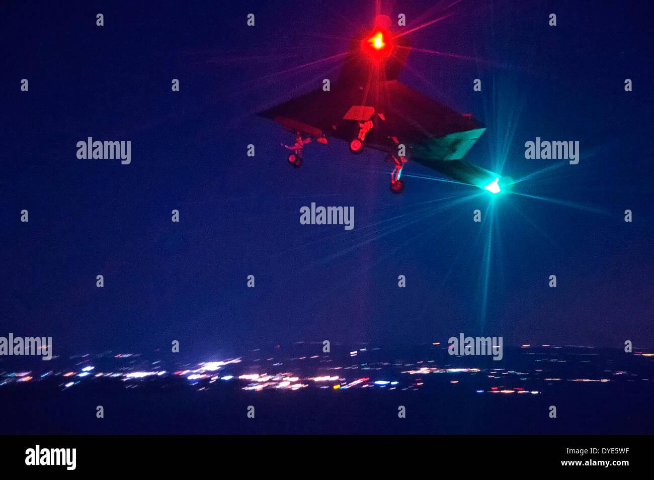 Ucav Stock Photos &amp...X 47b At Night