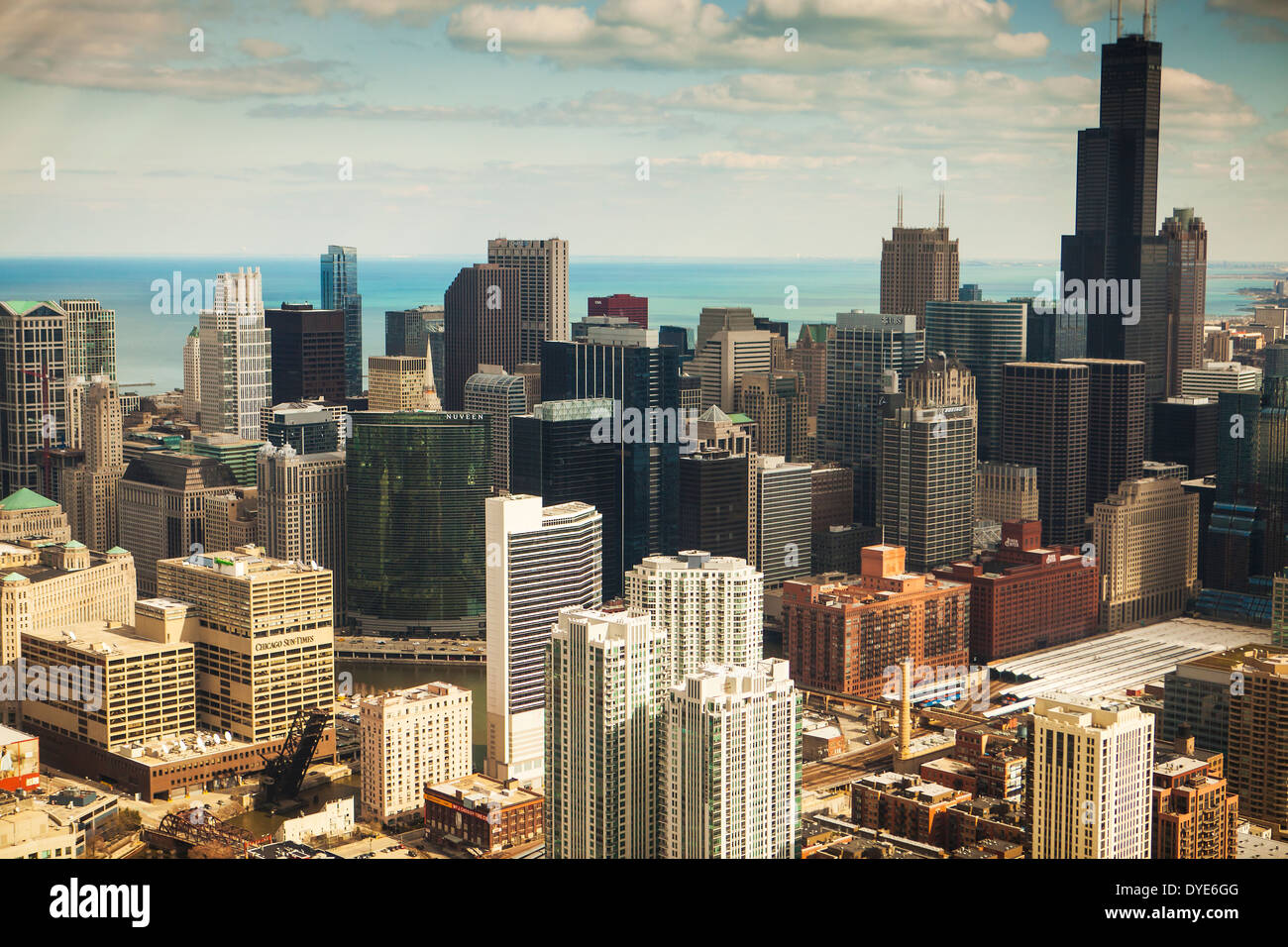 Aerial view of Chicago, Illinois - Stock Image