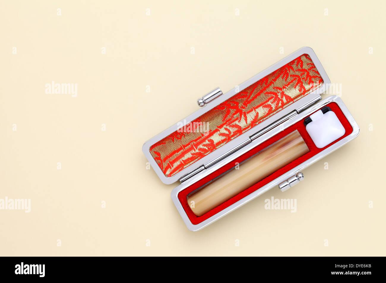Japanese stamp (hanko Stock Photo: 68539391 - Alamy