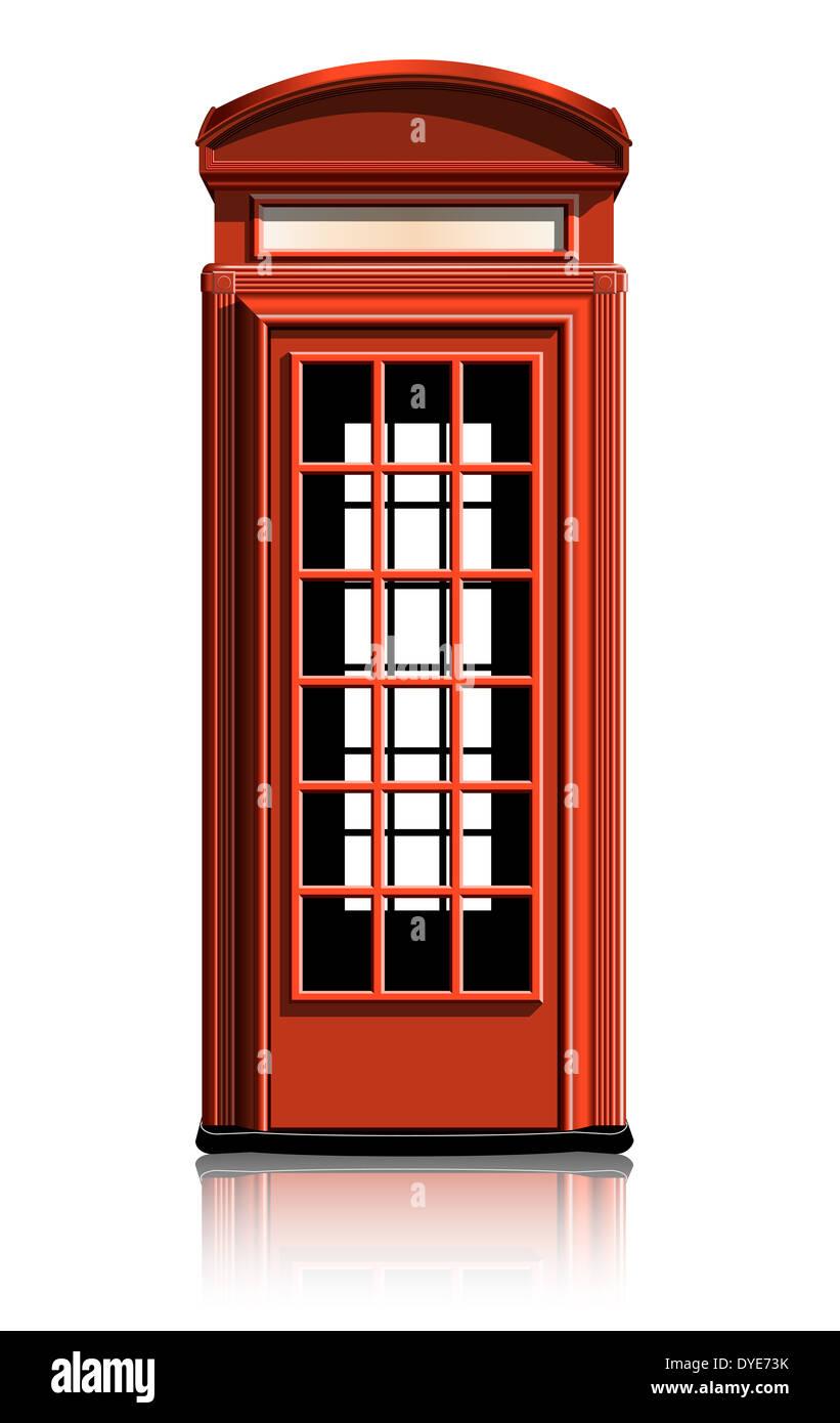 london phone booth. vector illustration. gradient mash - Stock Image