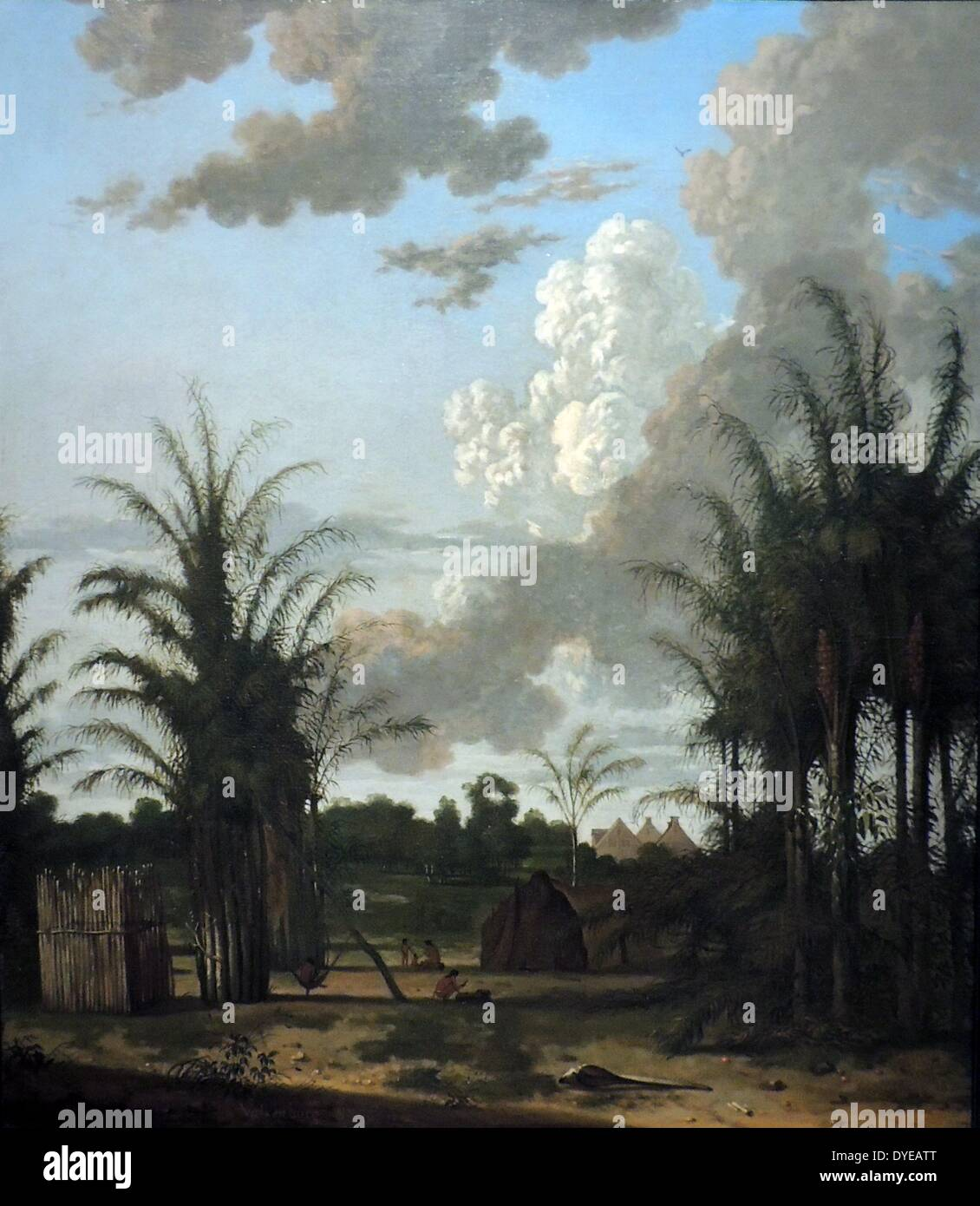 Plantation in Suriname by Dirk Valkenburg (1675-1721). Oil on Canvas, 1707. - Stock Image