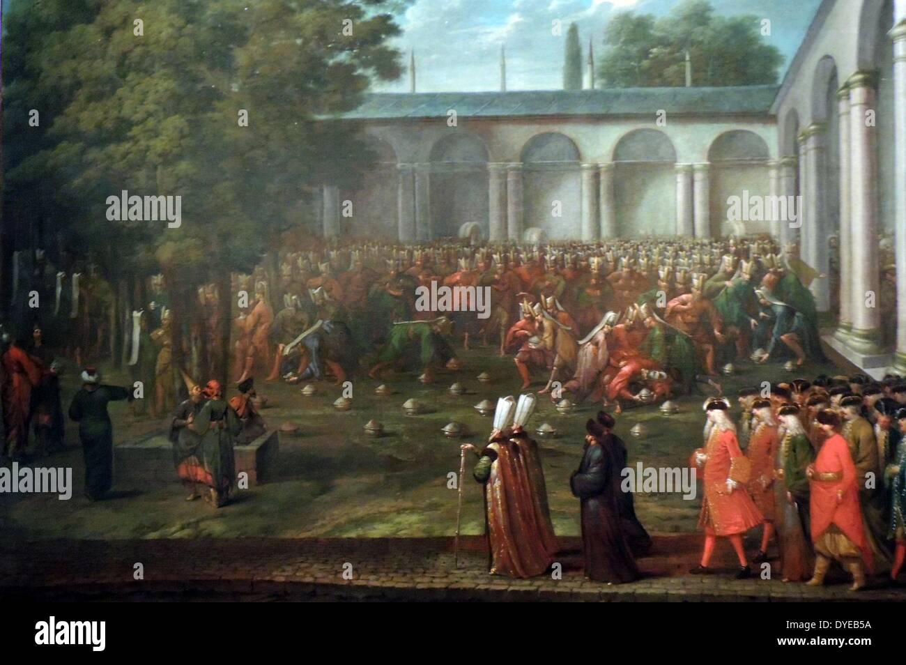 Cornelius Calkoen on Way to his Audience with Sultan Ahmed III by Jean Baptiste Vanmour (1671-1737) oil on canvas, - Stock Image