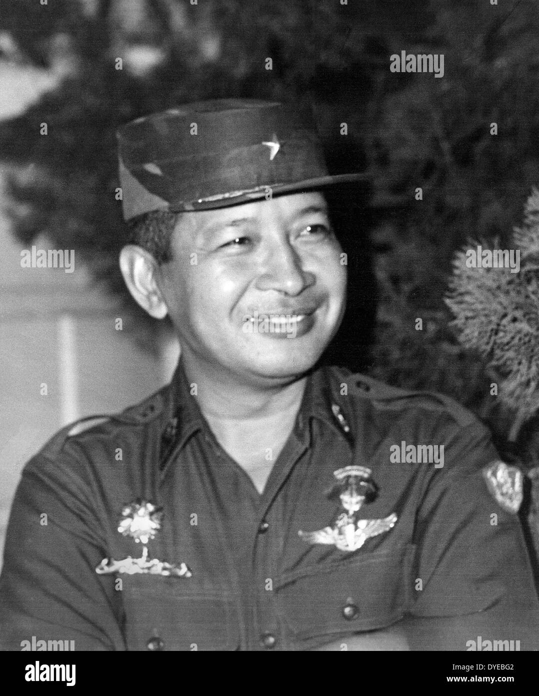 General Suharto 1921 – 2008 was the second President of Indonesia for 31 years from 1967 following Sukarno's removal until his - Stock Image