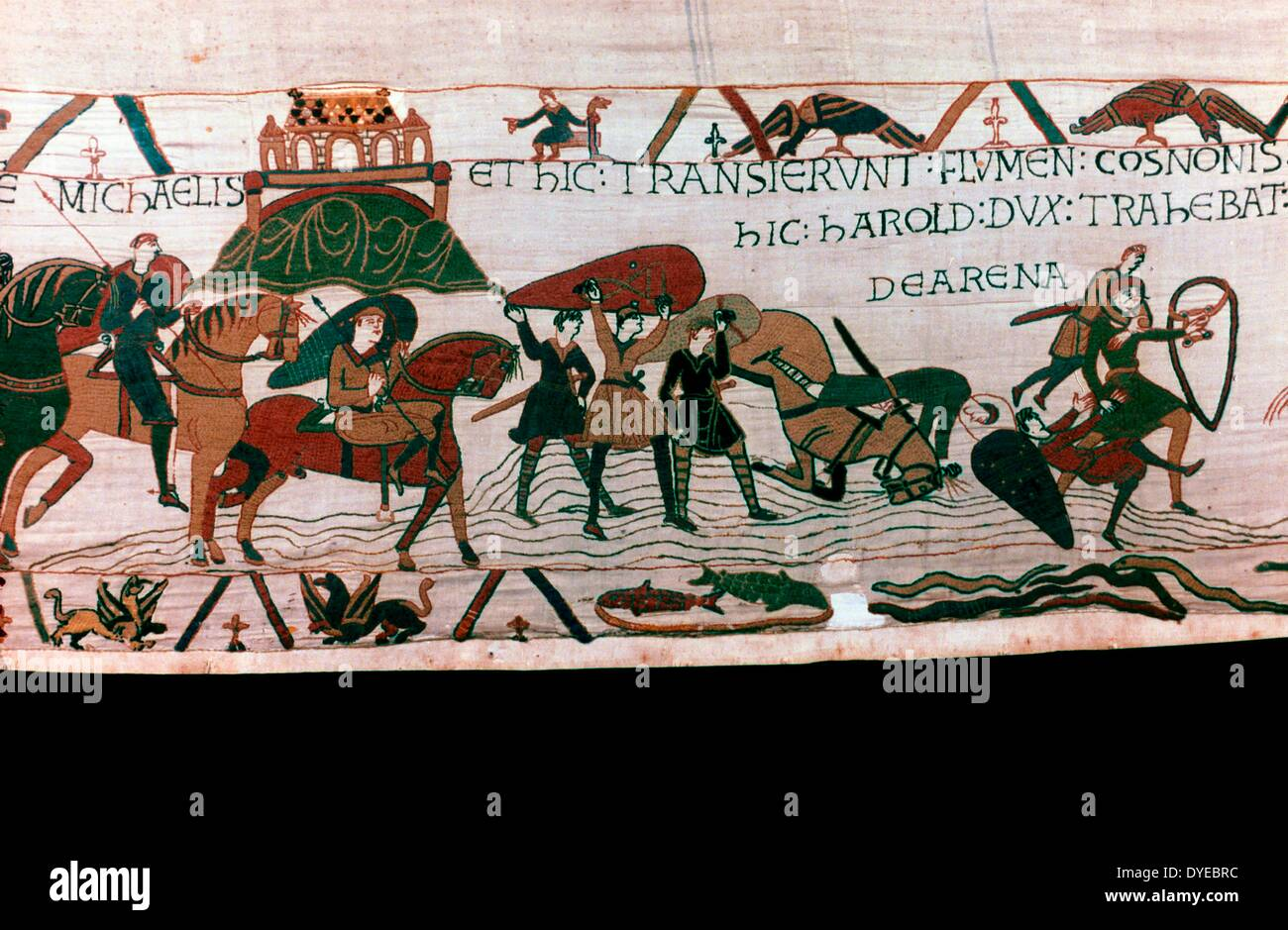 scene from the Bayeux Tapestry - Stock Image