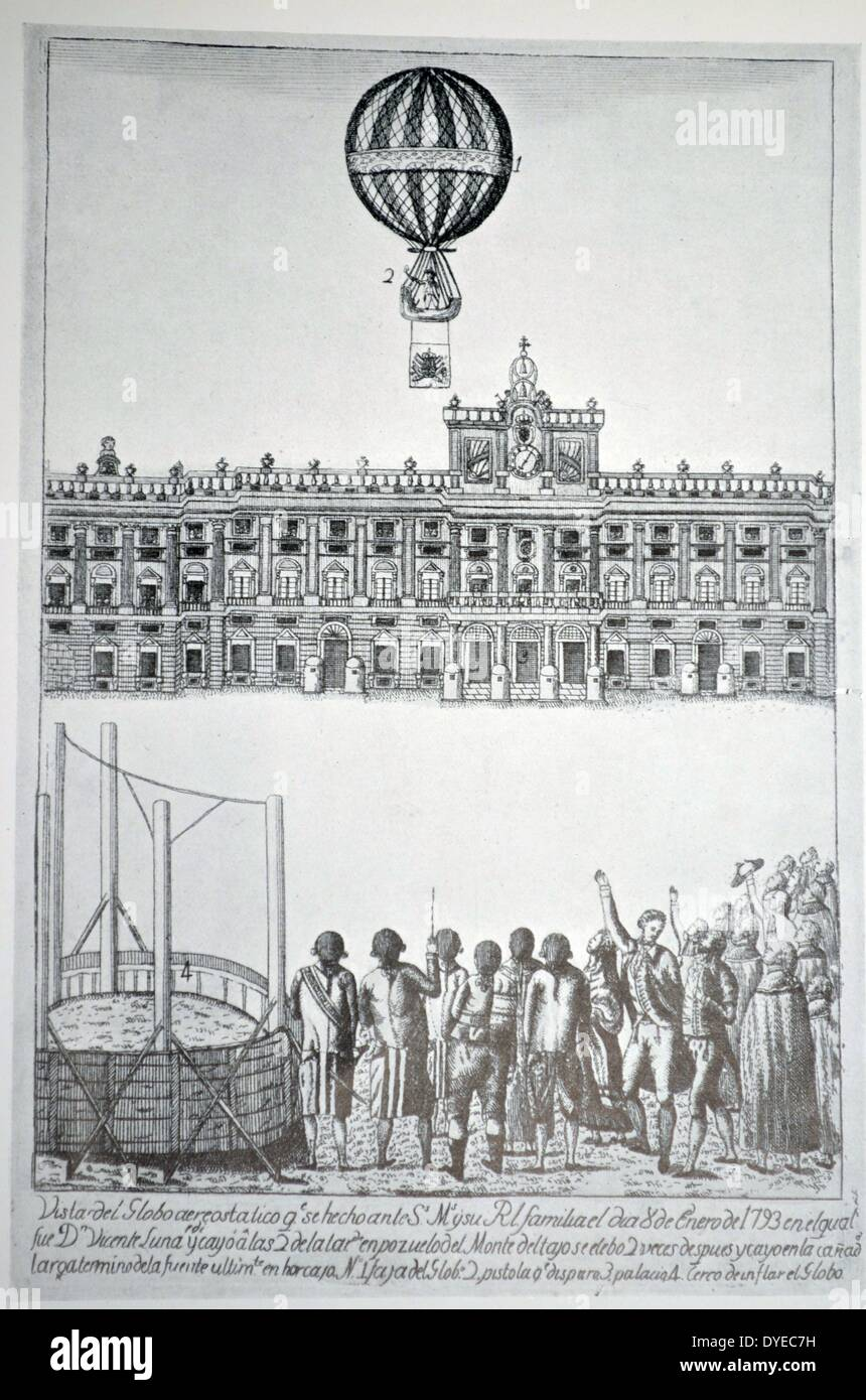 Spanish Etching Published in Madrid - Stock Image