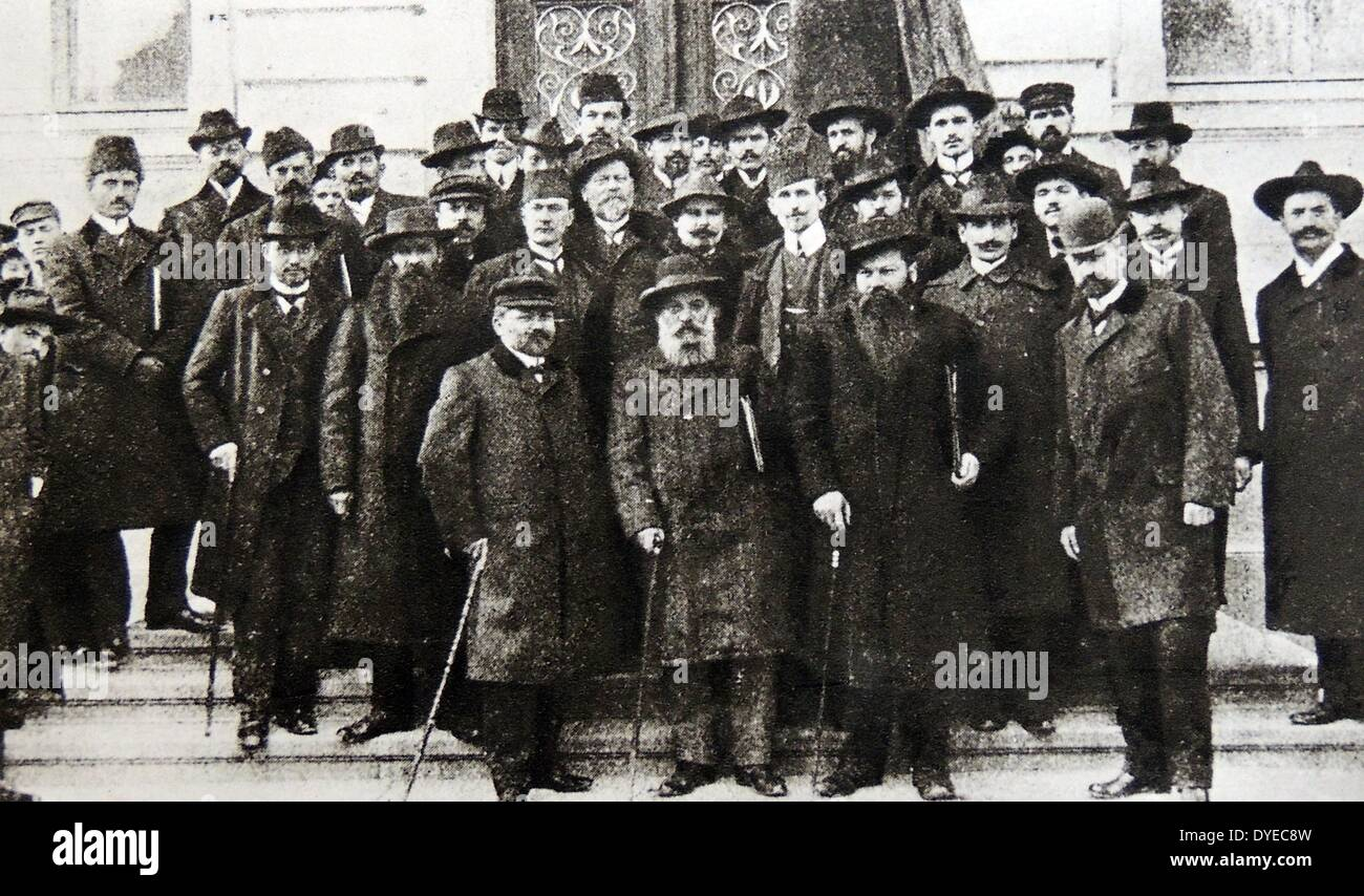 The First Balkan Social Democratic conference. - Stock Image
