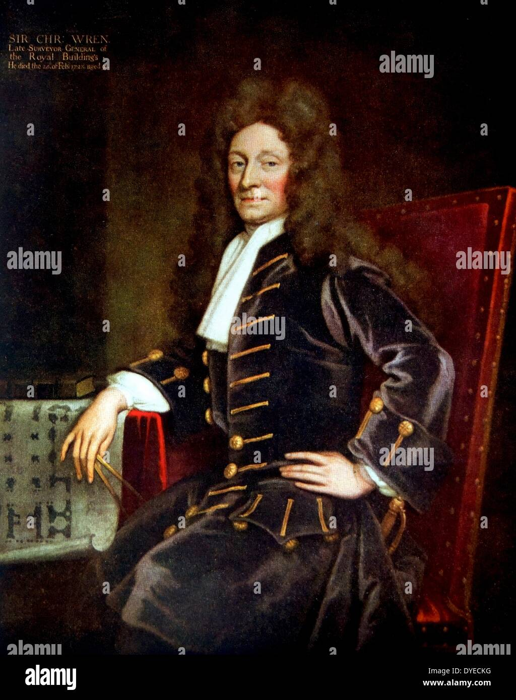Sir Christopher Wren - Stock Image