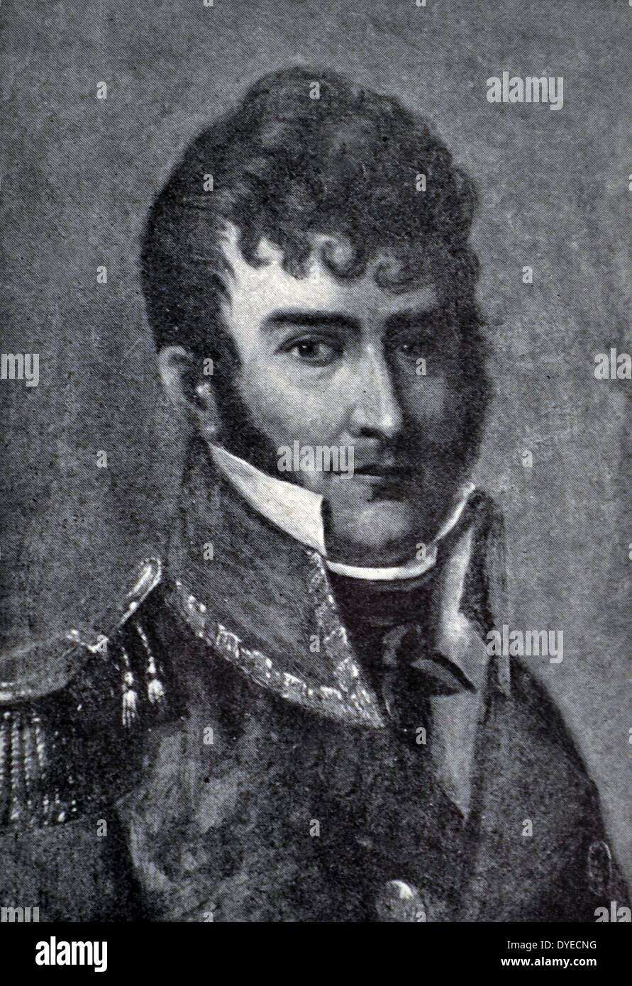 Portrait of Christian Magnus Falsen - Stock Image