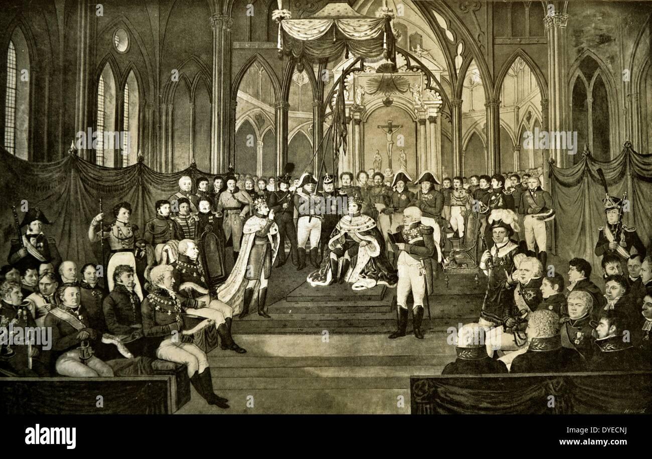 Coronation of King Karl III Johan of Norway - Stock Image