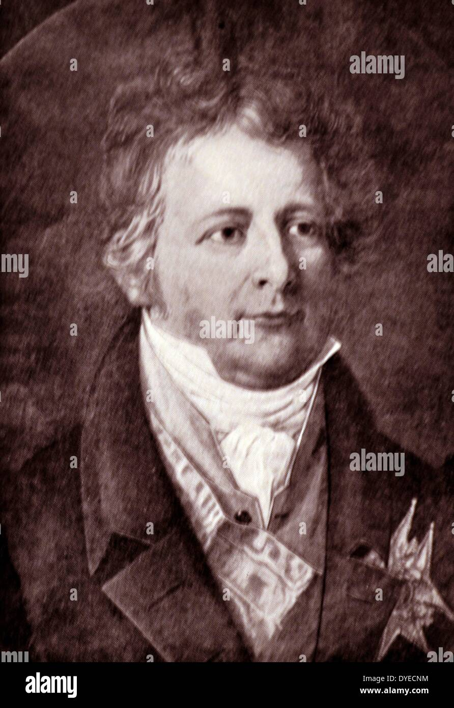 Portrait of Count Wedel Jarlsberg. - Stock Image