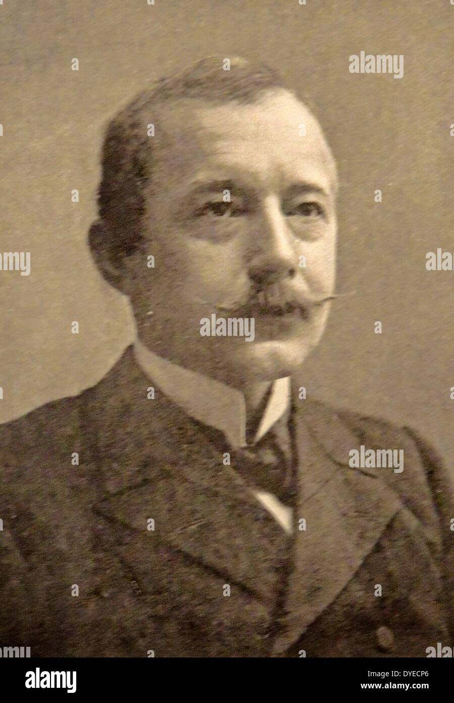 Portrait of Georg Stang. - Stock Image