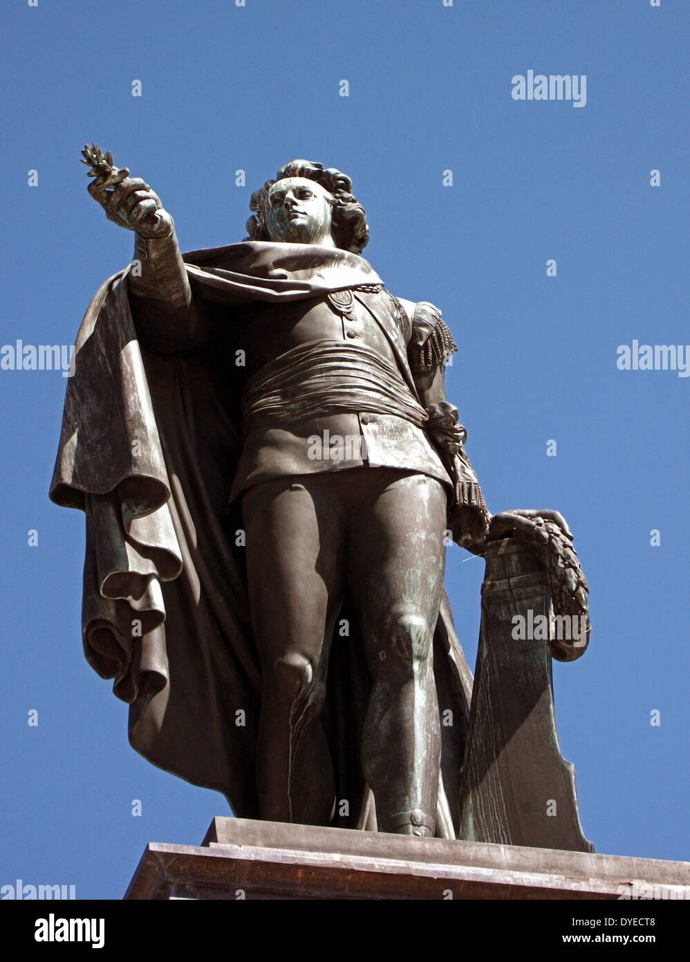 Statue of King Gustav the III 1746 – 29 March 1792 ) was King of Sweden from 1771 until his death - Stock Image
