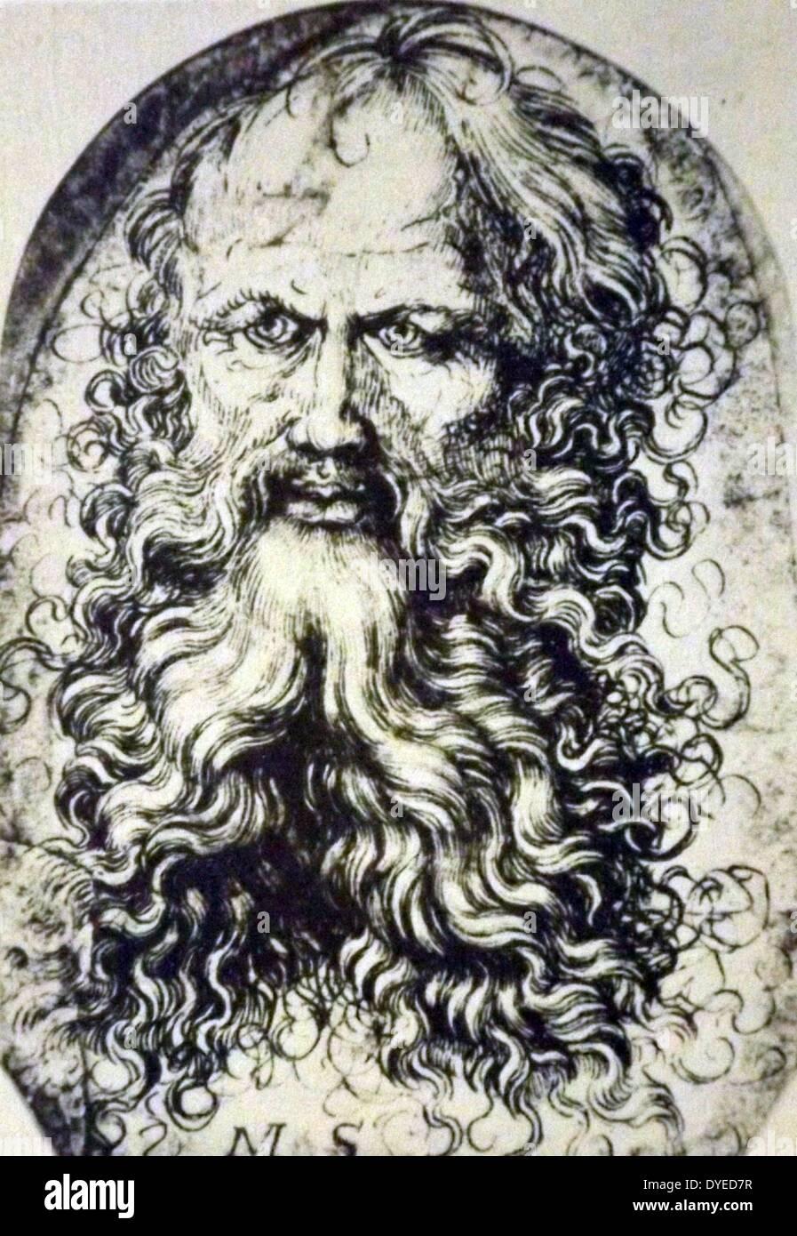 Head of a Bearded Man - Stock Image