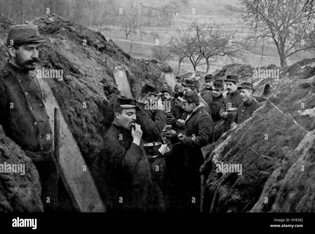 French Soldiers in the Trenches - Stock Image