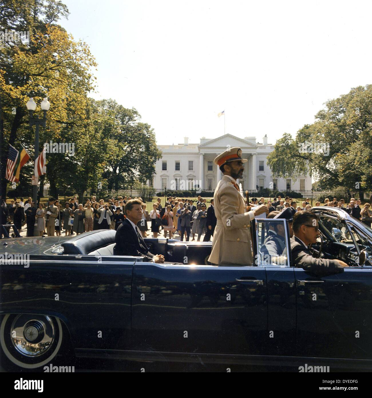 Emperor haile selassi 1892-1975, of Ethiopia with President John Kennedy in Washington 1963 - Stock Image