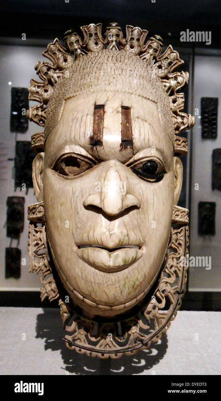 Carved Ivory Mask 16th Century A.D. - Stock Image