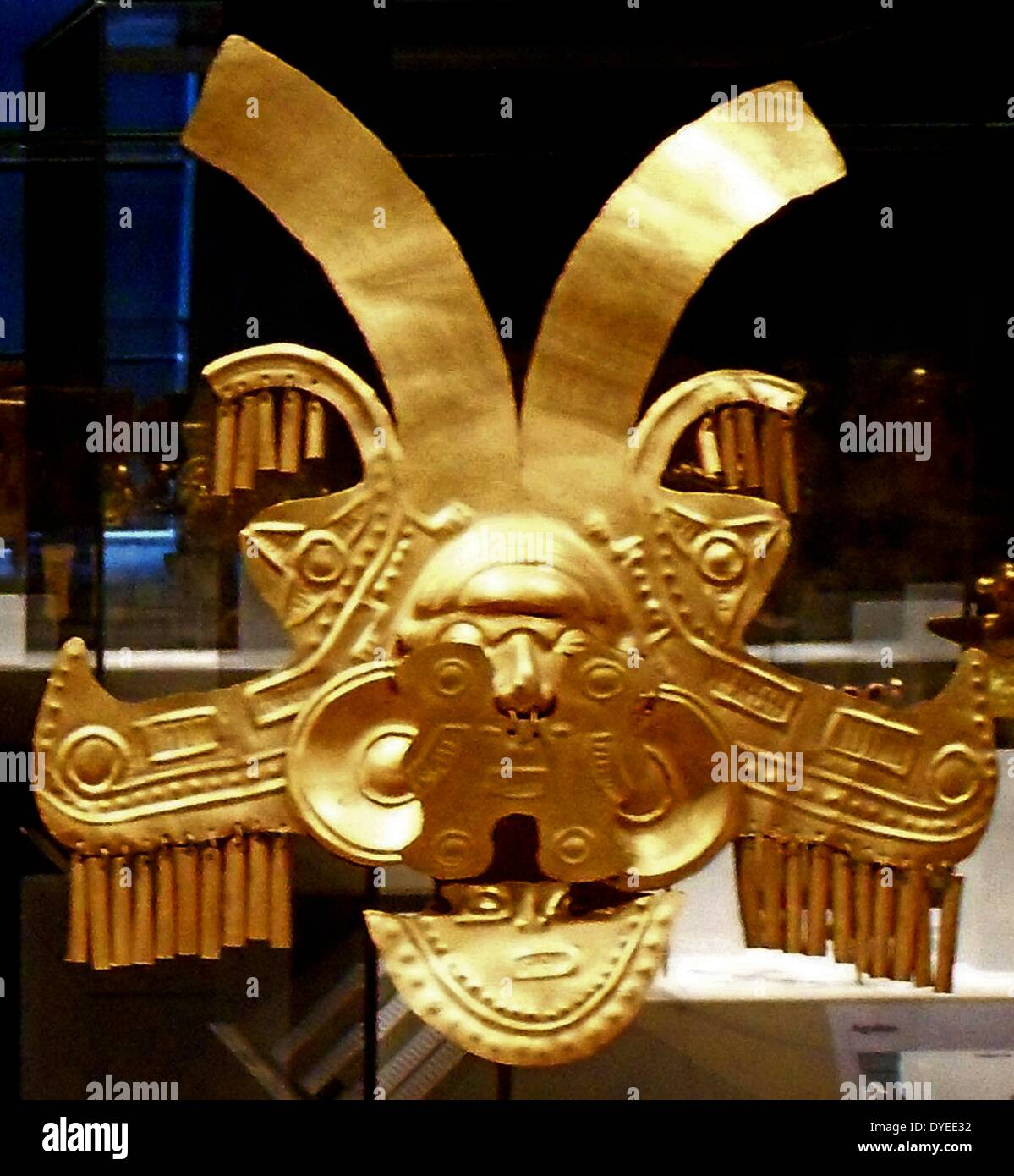 Hammered Gold Pectoral Ornament 1st Century - Stock Image