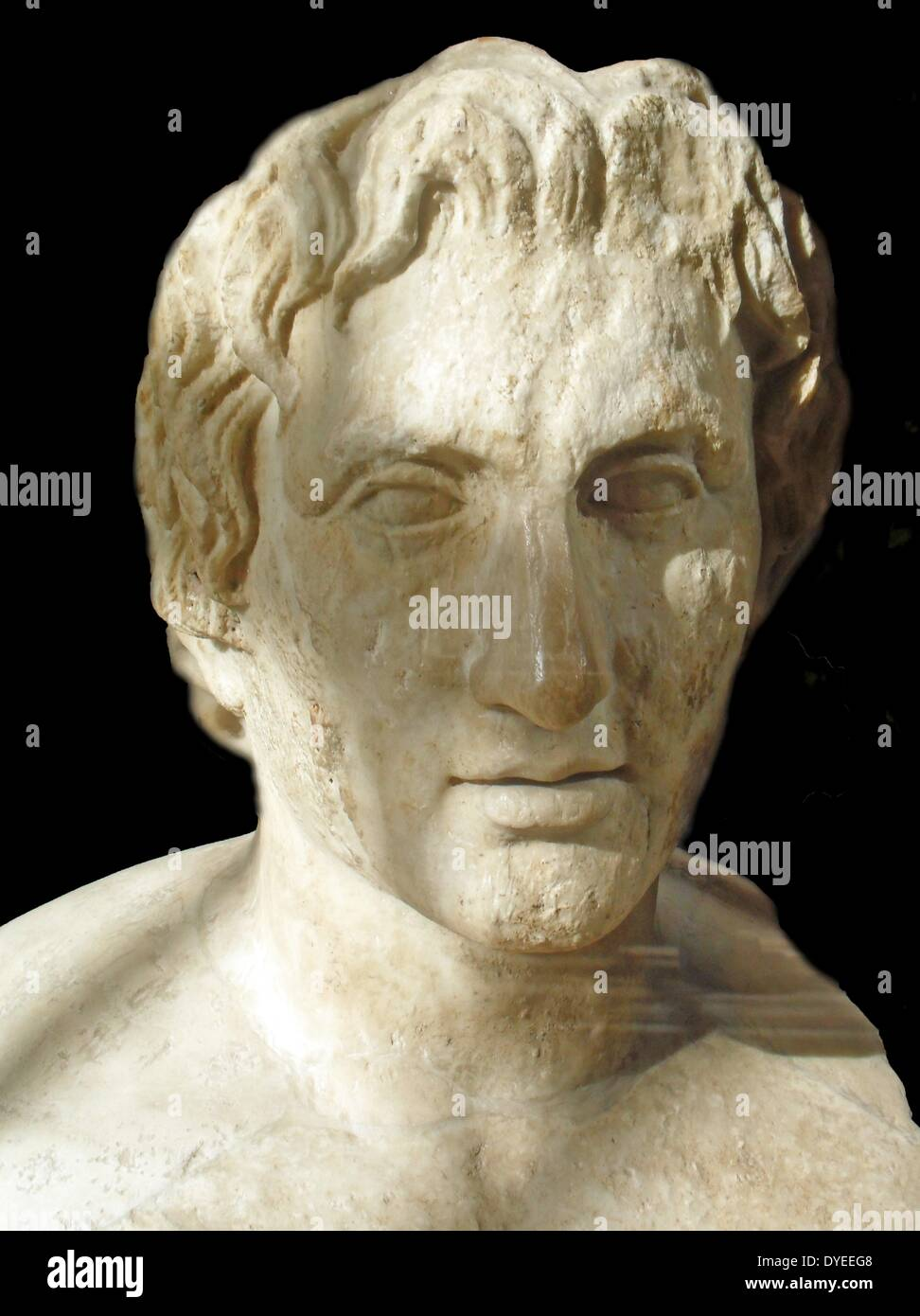 Portrait of Alexander the Great, Hermes Azara 1st Century A.D. - Stock Image