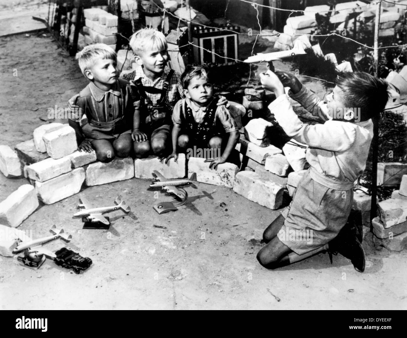 Japan after an atomic bomb attack in 1945 A.D. - Stock Image