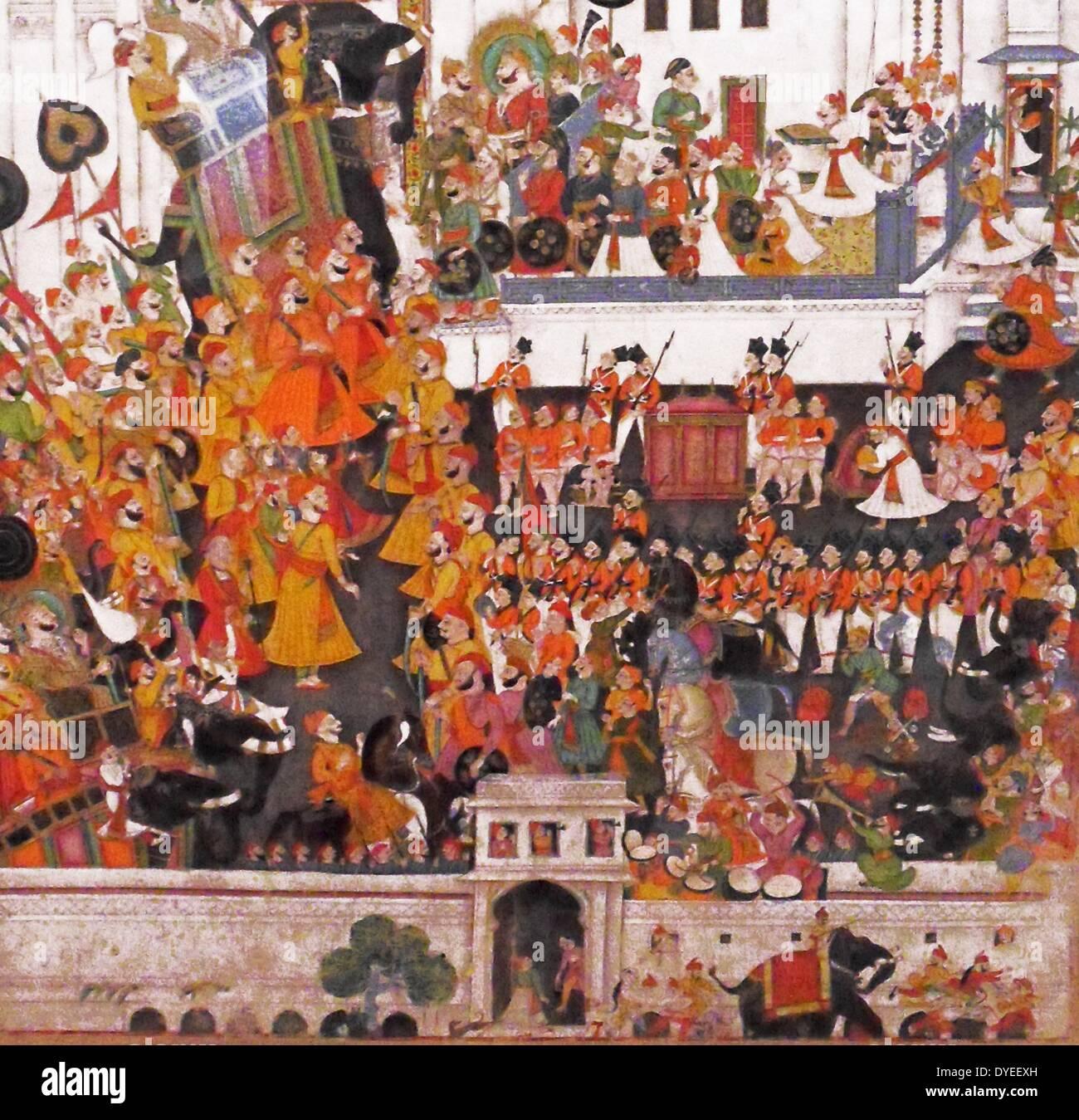 Durbar of Akbar Shah II 1820 A.D. - Stock Image
