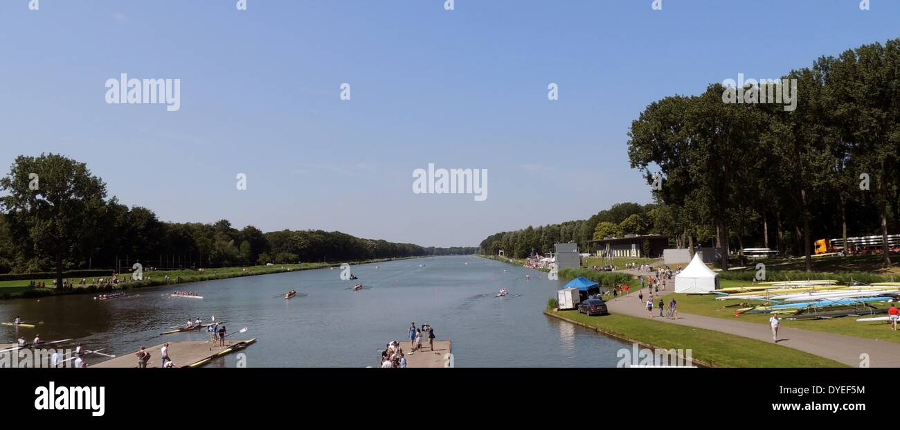 1928 Olympic Rowing Lake 2013 A.D. - Stock Image