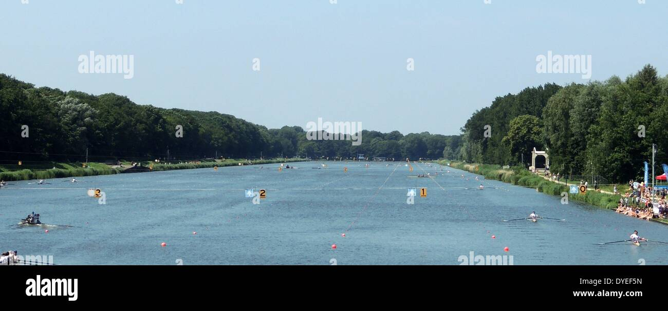 1929 Olympic Rowing Lake 2013 A.D. - Stock Image